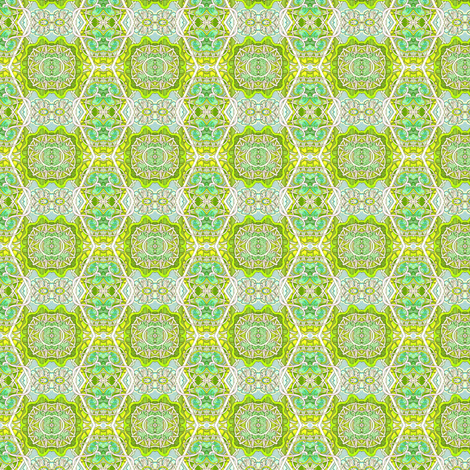 Going Green (zig zag hexagonal vertical stripe) fabric by edsel2084 on Spoonflower - custom fabric