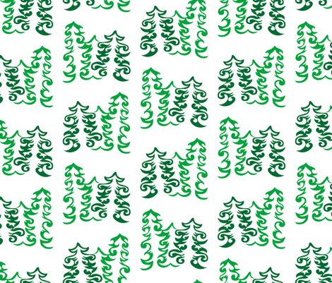 Curly Evergreens fabric by havemorecake on Spoonflower - custom fabric
