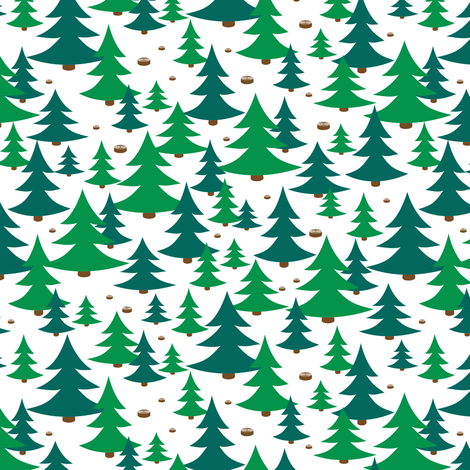 little tree farm fabric by annosch on Spoonflower - custom fabric