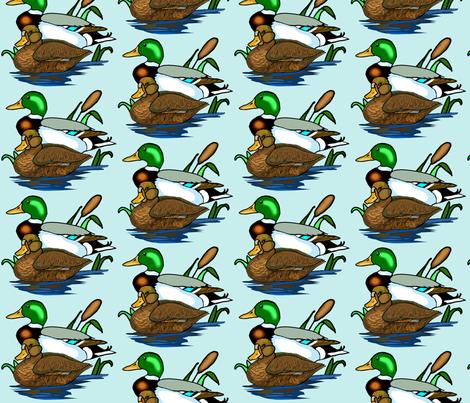 Mallard Ducks fabric by dogdaze_ on Spoonflower - custom fabric