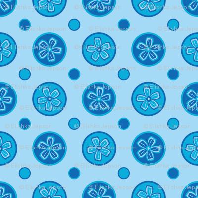 Super Blue Flower Dots!
