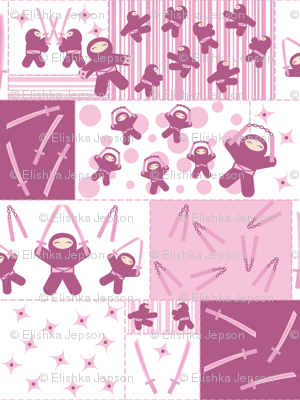 Super Pink Ninja Warriors! (Block)
