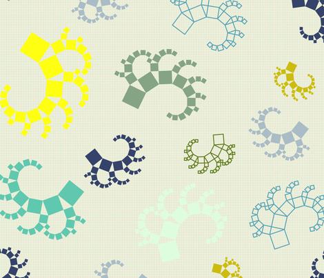 Pythagoras Trees fabric by candyjoyce on Spoonflower - custom fabric