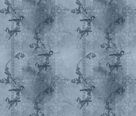Steampunk Love Birds - Rainclouds fabric by mudstuffing on Spoonflower - custom fabric