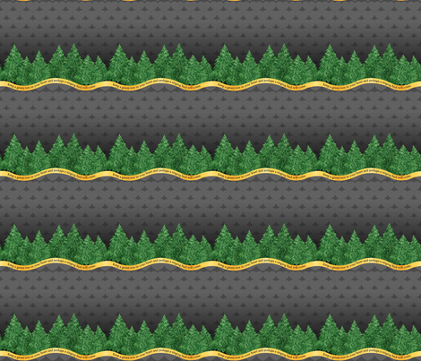 Green Tree - Grey fabric by engravogirl on Spoonflower - custom fabric