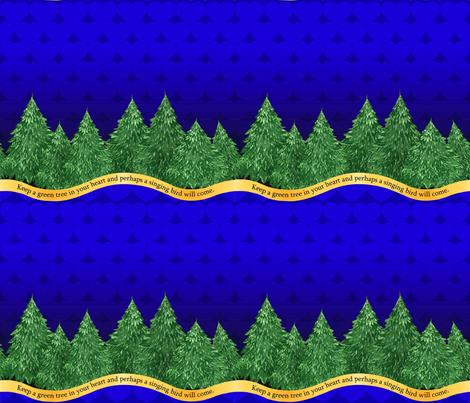 GreenTree (blue) fabric by engravogirl on Spoonflower - custom fabric