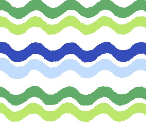 waves fabric by dollyw on Spoonflower - custom fabric