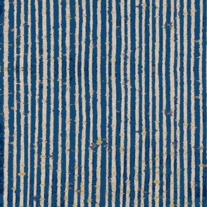 Distressed Bookpaper Stripe in Blue
