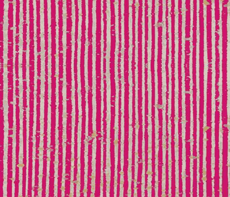Distressed Bookpaper Stripe in Pink fabric by muddyfoot on Spoonflower - custom fabric