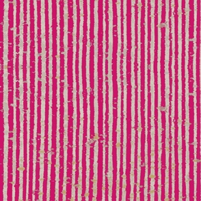 Distressed Bookpaper Stripe in Pink