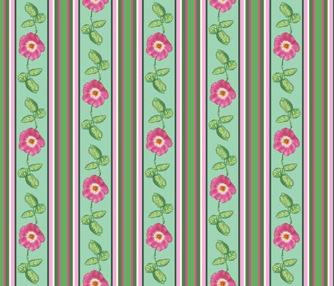 Rose_stripe_alternating_single_repeat fabric by khowardquilts on Spoonflower - custom fabric