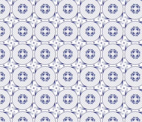 delft embellishments fabric by glimmericks on Spoonflower - custom fabric