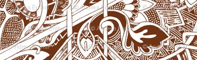 Star of David's Older Brother (sepia, monochrome)