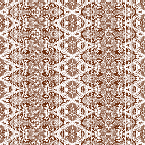 Star of David's Older Brother (sepia, monochrome) fabric by edsel2084 on Spoonflower - custom fabric