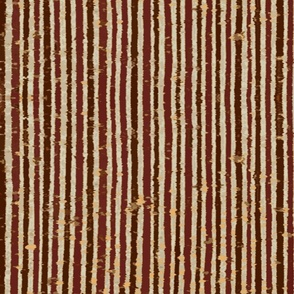Distressed Bookpaper Stripes Maroon and Brown