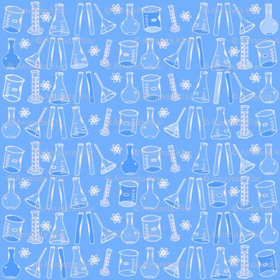 Chemistry lab blue white wallpaper nocodazole spoonflower for Chemistry reaction calculator fort de france