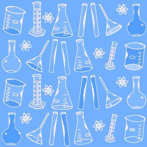 Chemistry Lab Blue White
