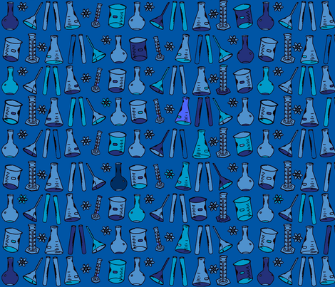 Chemistry Lab Blue fabric by nocodazole on Spoonflower - custom fabric