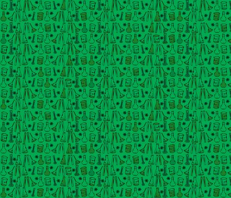 Chemistry Lab Green fabric by nocodazole on Spoonflower - custom fabric