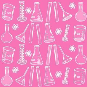 Chemistry Lab Pink White