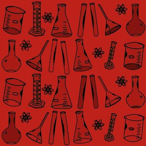 Chemistry Lab Red