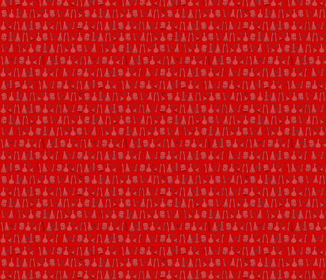 Red Chemistry Lab small fabric by nocodazole on Spoonflower - custom fabric
