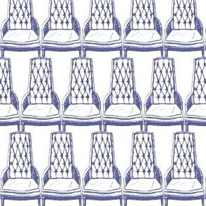 Tall Blue Chair