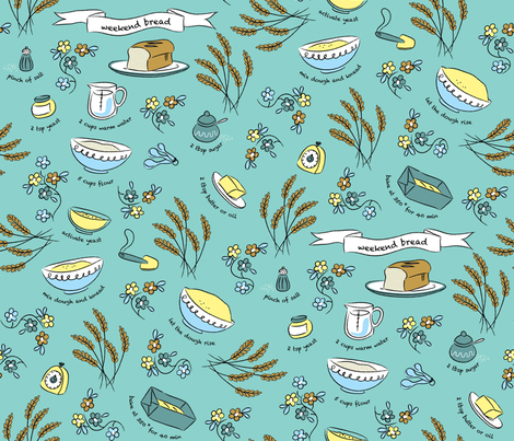 Weekend bread fabric by needlebook on Spoonflower - custom fabric