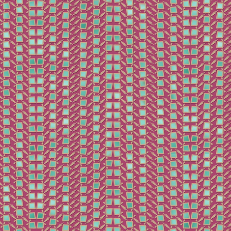 Cactus Skin - Mauve and Turquoise fabric by engravogirl on Spoonflower - custom fabric