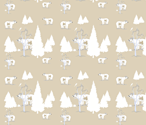Polar Bear King fabric by karenharveycox on Spoonflower - custom fabric