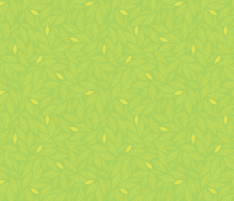 Bouquet Leaves (green) fabric by robyriker on Spoonflower - custom fabric