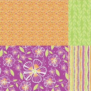 A Pink Bouquet Fat Quarter Collection