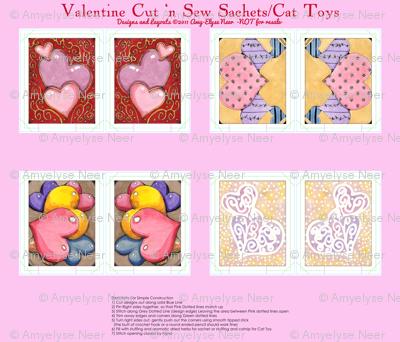 Watercolor Valentine Sachets Pink Set