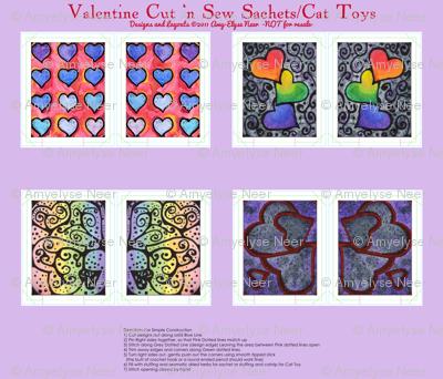 Watercolor Valentine Sachets Purple Set