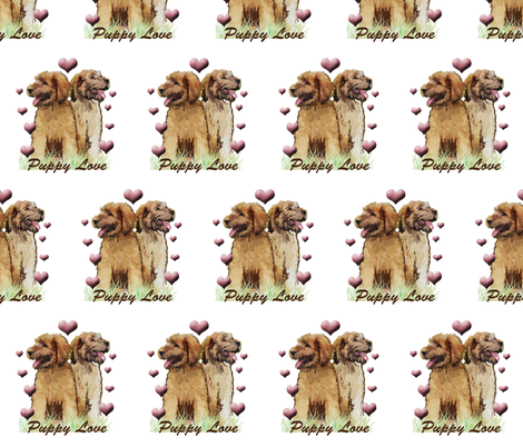 Puppy Love briard puppy fabric by dogdaze_ on Spoonflower - custom fabric