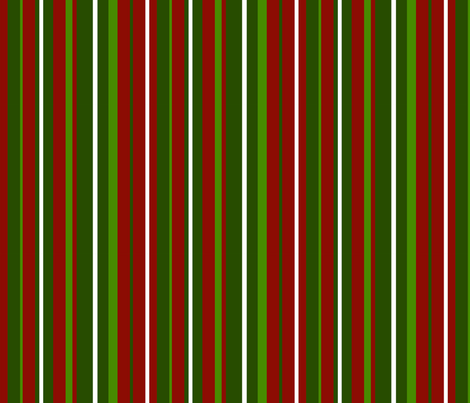 Candy Cane Stripes - Red and Green fabric by jannasalak on Spoonflower - custom fabric