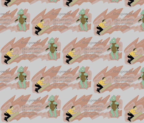 Kirk vs Gorn - How to make gunpowder fabric by mongiesama on Spoonflower - custom fabric