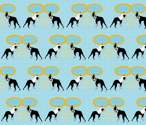 Boston Terrier Wedding fabric by missyq on Spoonflower - custom fabric
