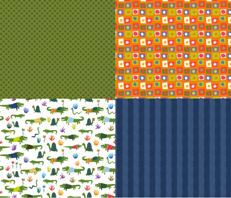 Gators and Snakes for the Advernturous! fabric by vo_aka_virginiao on Spoonflower - custom fabric