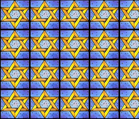 Stained Glass Star fabric by amyelyse on Spoonflower - custom fabric