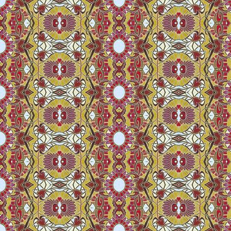 Zig Zag Golden Sunshine vertical stripe fabric by edsel2084 on Spoonflower - custom fabric