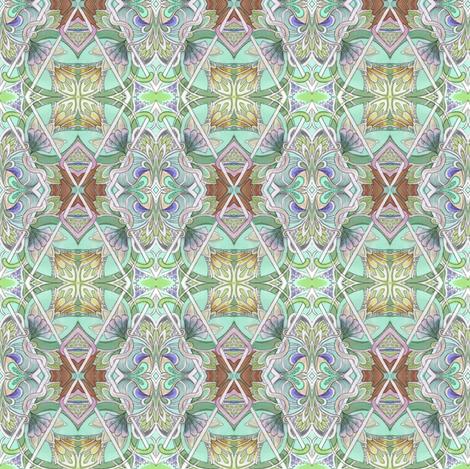 Thru the Leaded Glass fabric by edsel2084 on Spoonflower - custom fabric