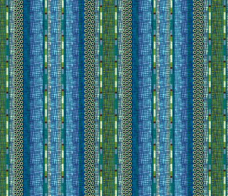atlantis_stripe 3X size fabric by glimmericks on Spoonflower - custom fabric