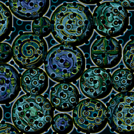 atlantis_metal 3X fabric by glimmericks on Spoonflower - custom fabric