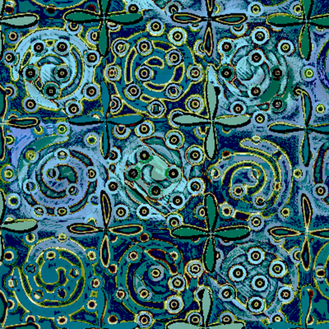 fiestival_atlantis 3X fabric by glimmericks on Spoonflower - custom fabric