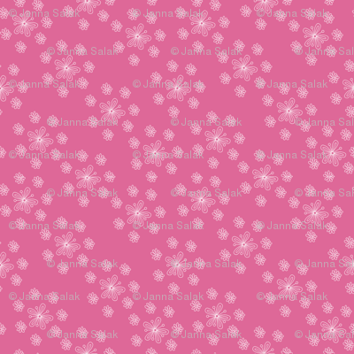 Pink and White Flower Scatter