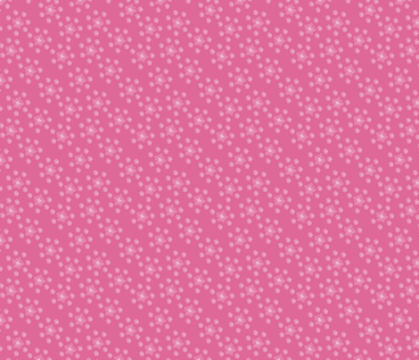 Pink and White Flower Scatter fabric by jannasalak on Spoonflower - custom fabric