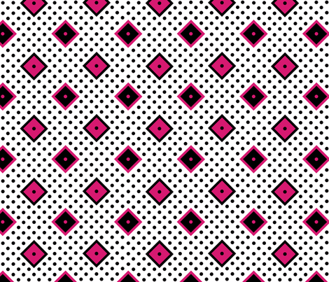 Diamond Dot Diva - White fabric by jannasalak on Spoonflower - custom fabric