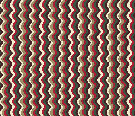 Christmas Waves fabric by jannasalak on Spoonflower - custom fabric