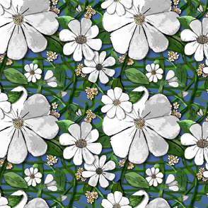 Repeating Floral - white (small print)